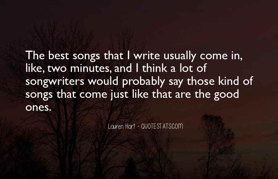 Best Songwriters Quotes #1382829