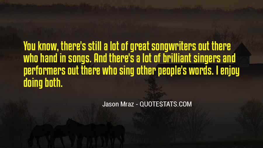 Best Songwriters Quotes #287904