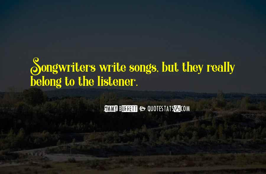 Best Songwriters Quotes #289424