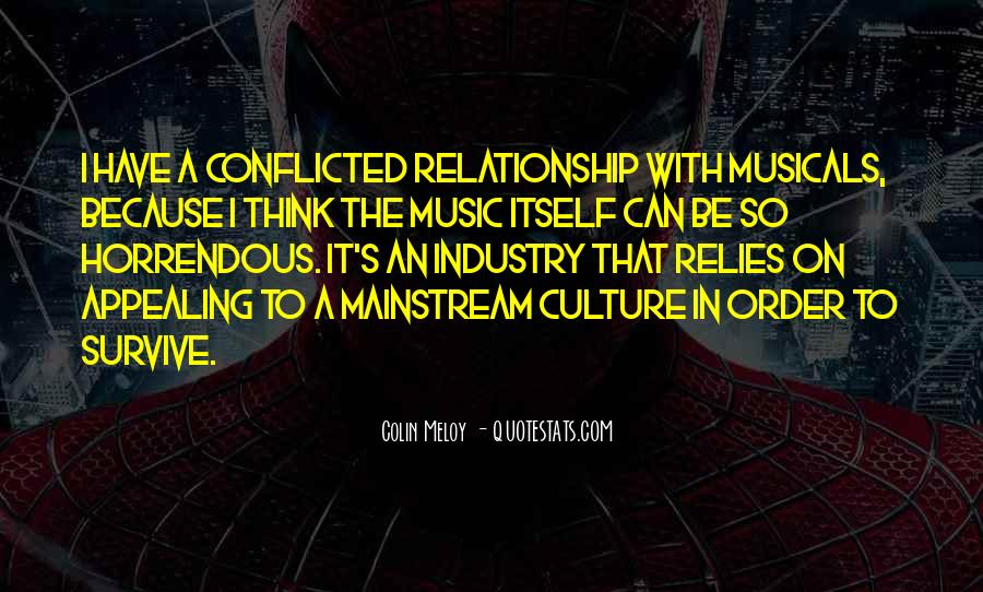 Quotes About Mainstream Music #269436
