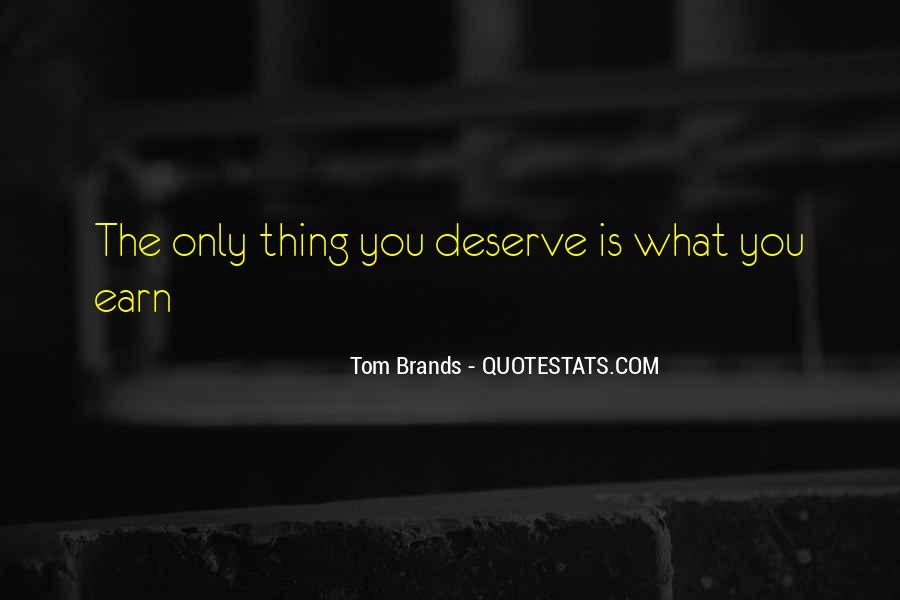 Best Tom Brands Quotes #1563137