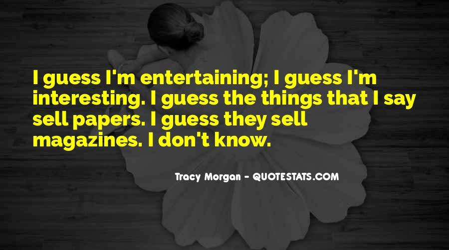 Best Tracy Morgan Quotes #256220