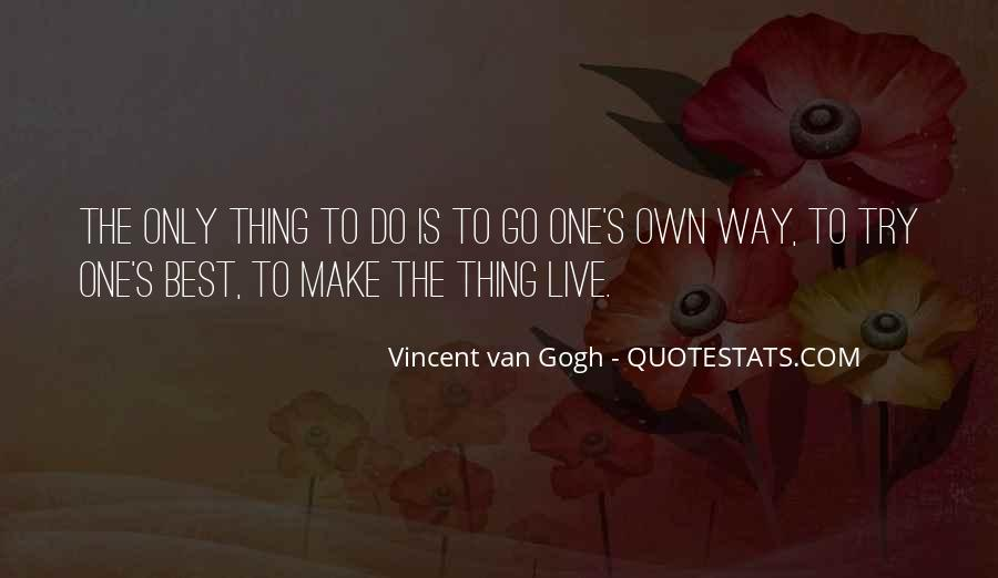 Best Way To Live Quotes #72262