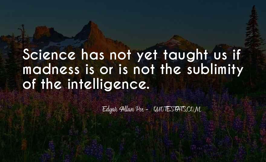 Quotes About Madness And Intelligence #124274