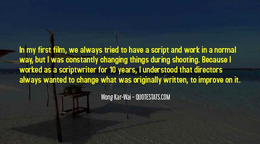 Best Wong Kar Wai Quotes #363230