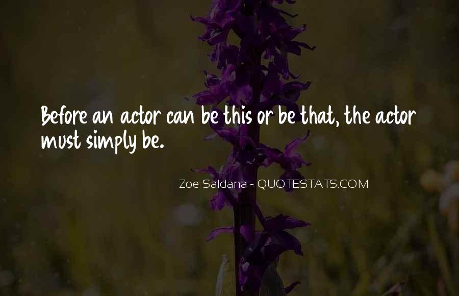 Best Zoe Saldana Quotes #10752