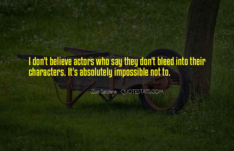 Best Zoe Saldana Quotes #368011