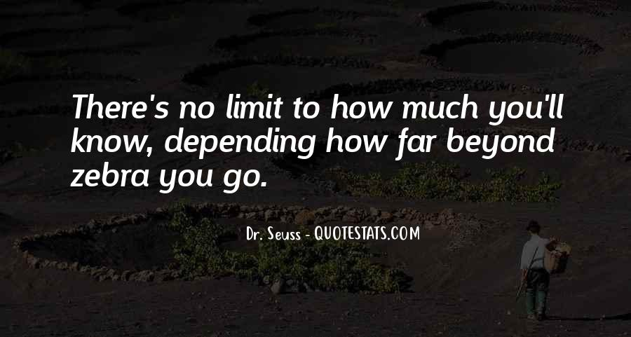 Beyond Limit Quotes #174836