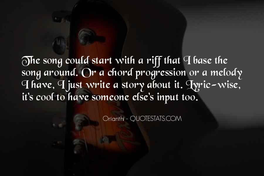 Quotes About Lyric #172361