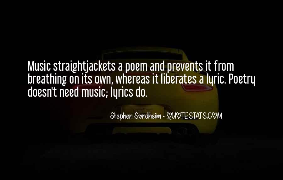 Quotes About Lyric #290973