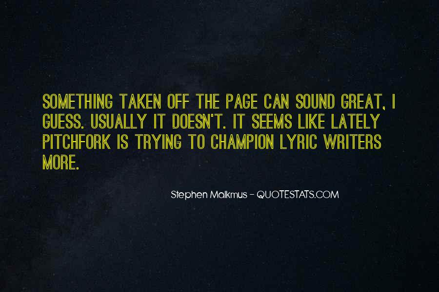 Quotes About Lyric #389320