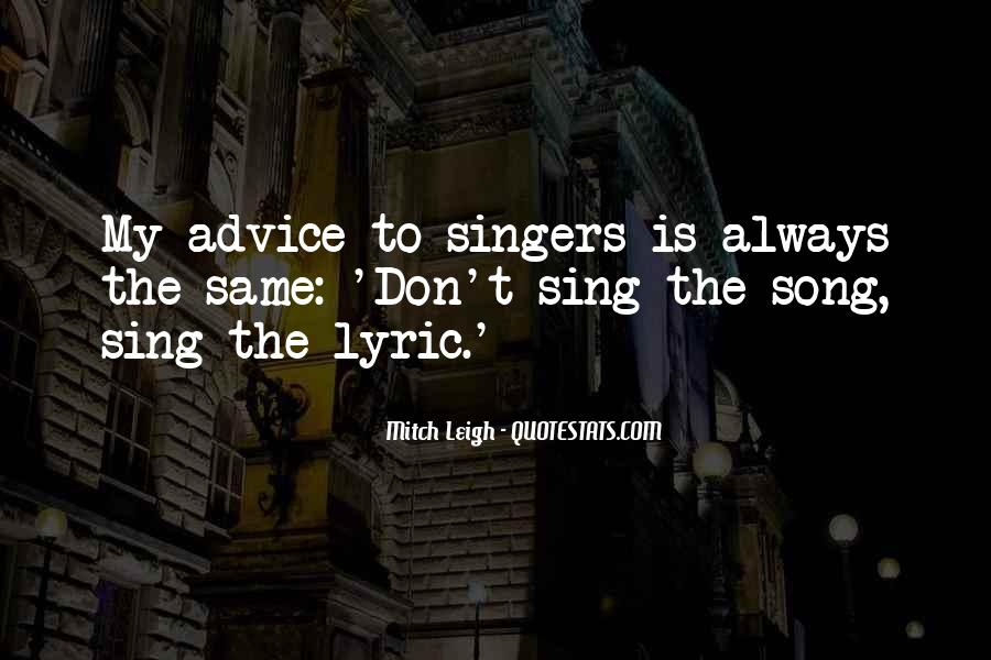 Quotes About Lyric #431105