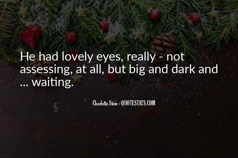 Big Dark Eyes Quotes #29530