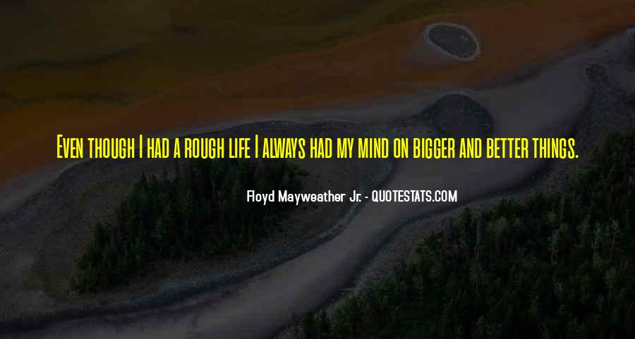 Bigger And Better Things In Life Quotes #127211