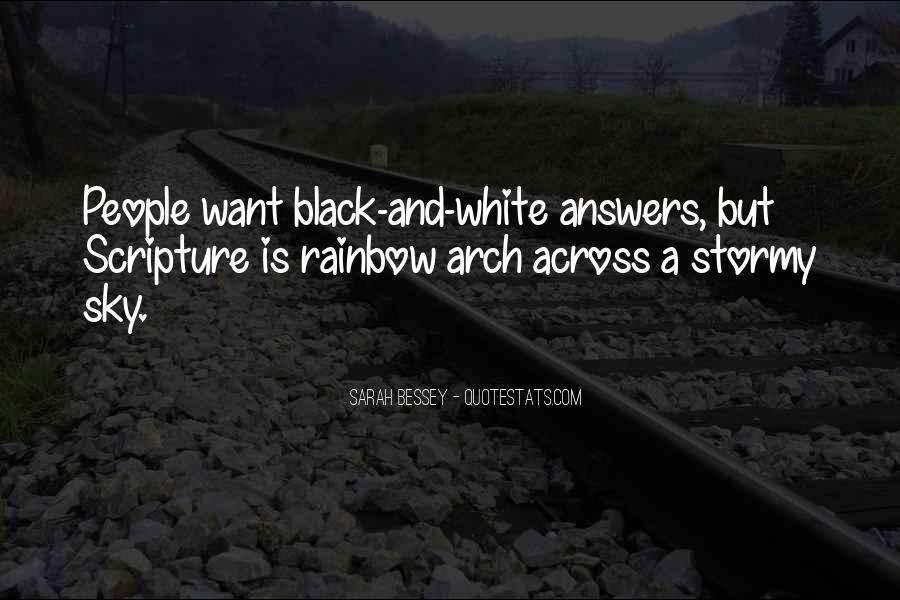 Black And White Sky Quotes #1039737