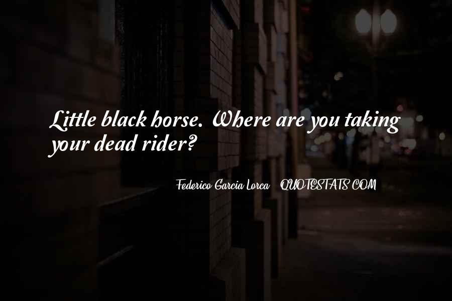 Black Horse Quotes #478762