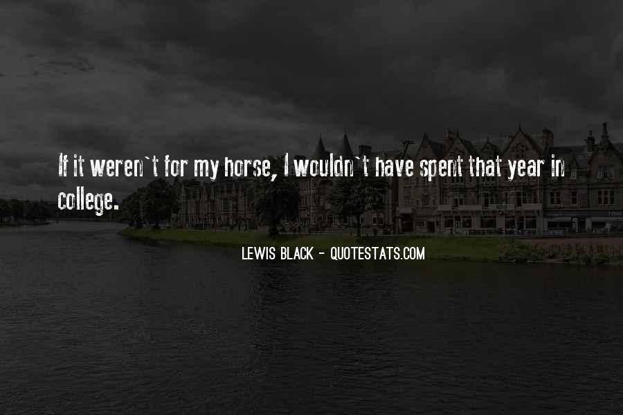 Black Horse Quotes #853362