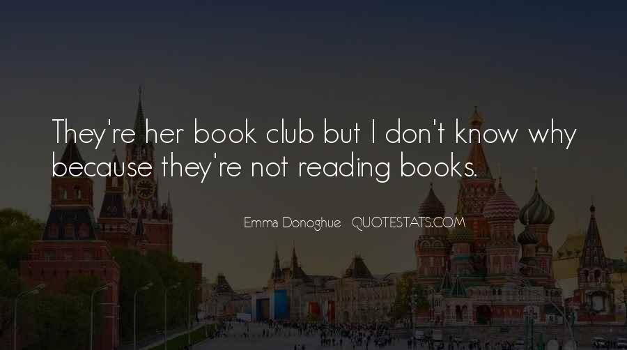 Book Club Reading Quotes #644568