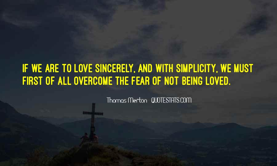 Quotes About Love Overcoming Fear #113899