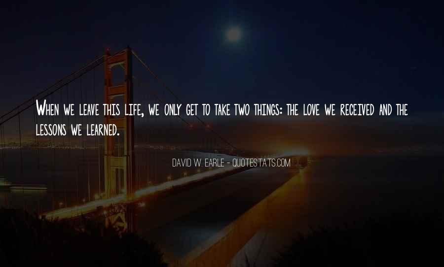 Quotes About Love Lessons Learned #447185