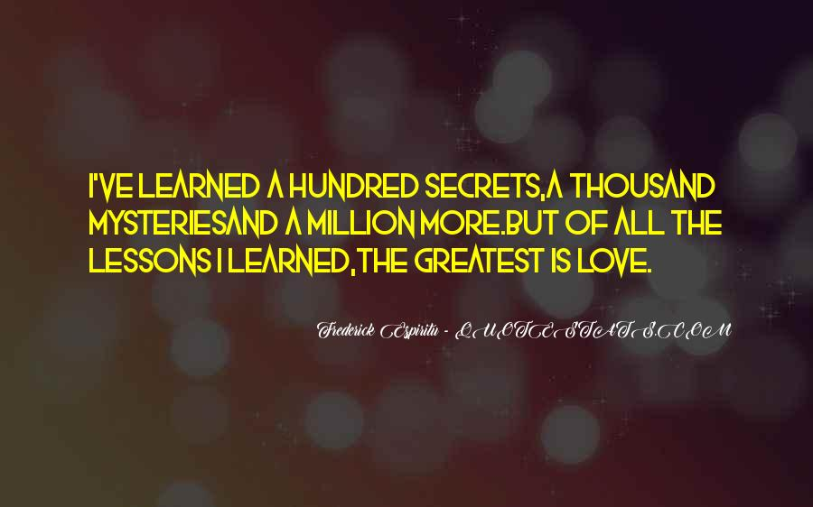 Quotes About Love Lessons Learned #778558