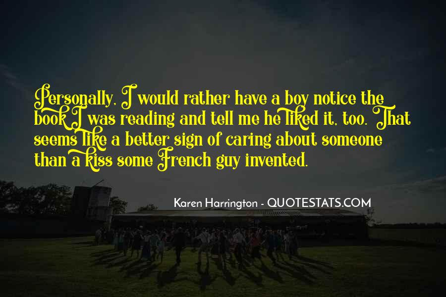 Boy Not Caring Quotes #1300020