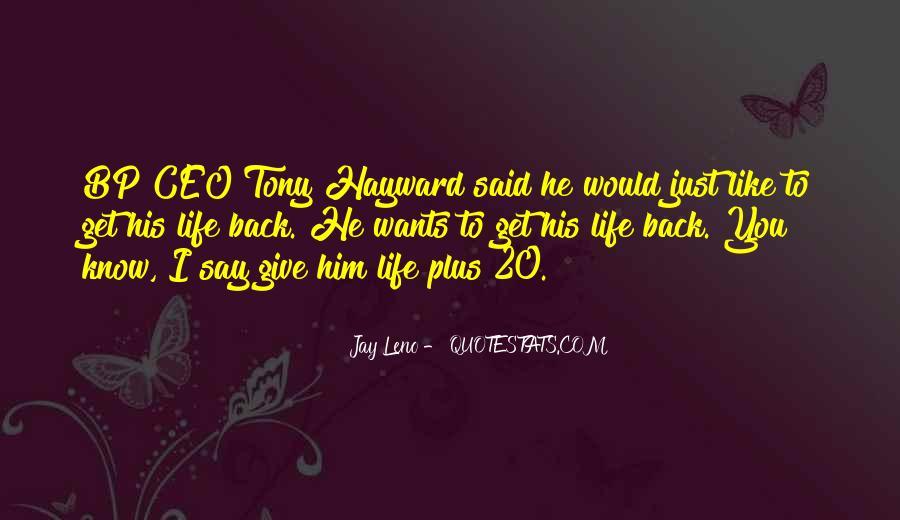 Bp Tony Hayward Quotes #868149