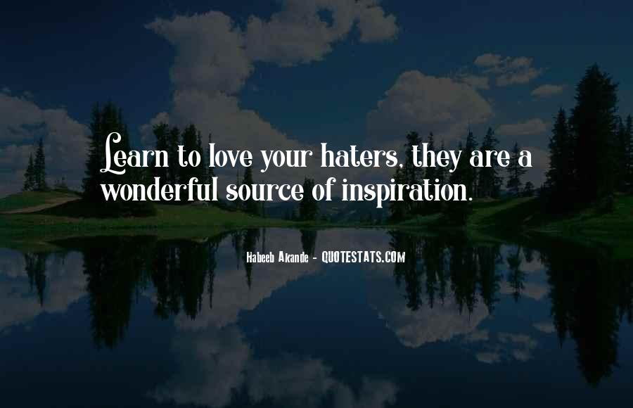 Quotes About Love Haters #88484
