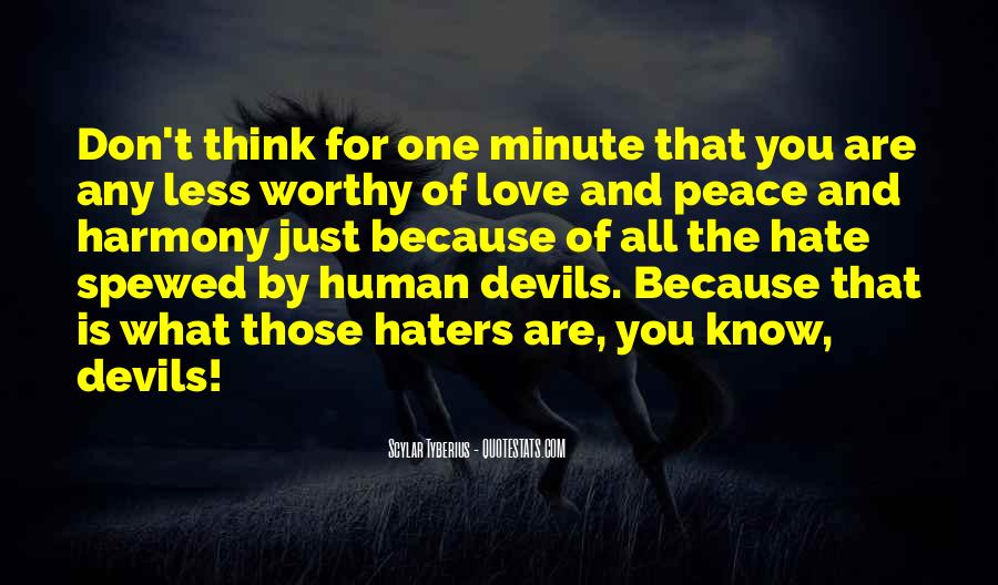 Quotes About Love Haters #927479