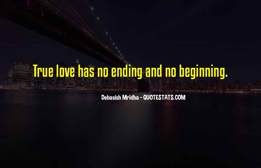 Quotes About Love Ending And Beginning #528119