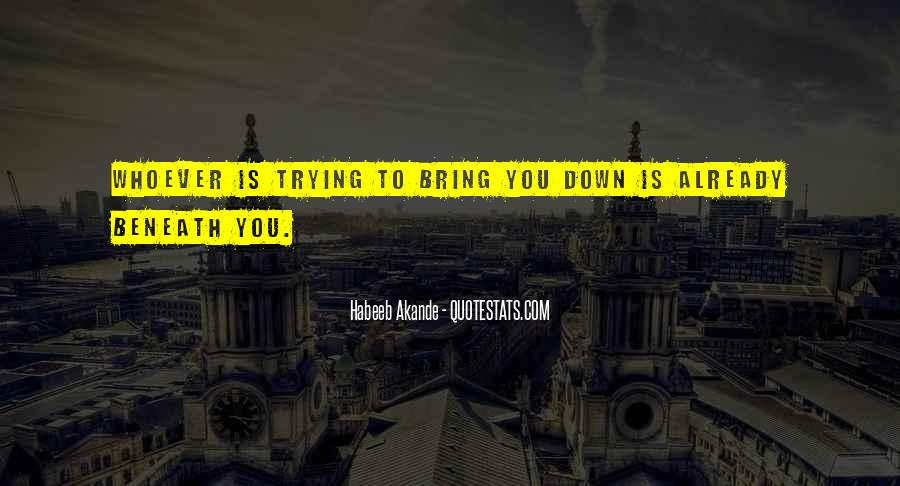 Bring You Down Quotes #599470