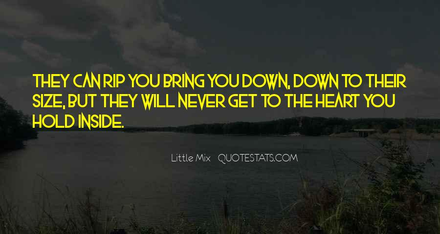 Bring You Down Quotes #609898