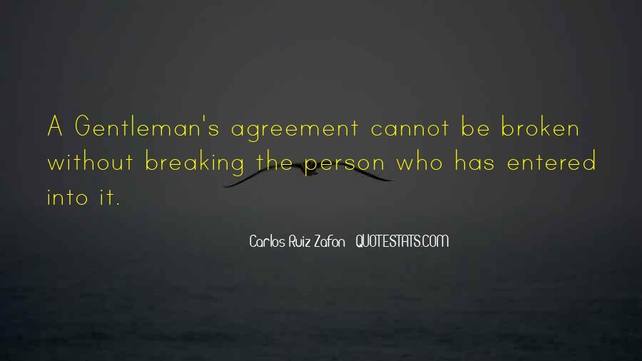 Broken Agreement Quotes #1079761