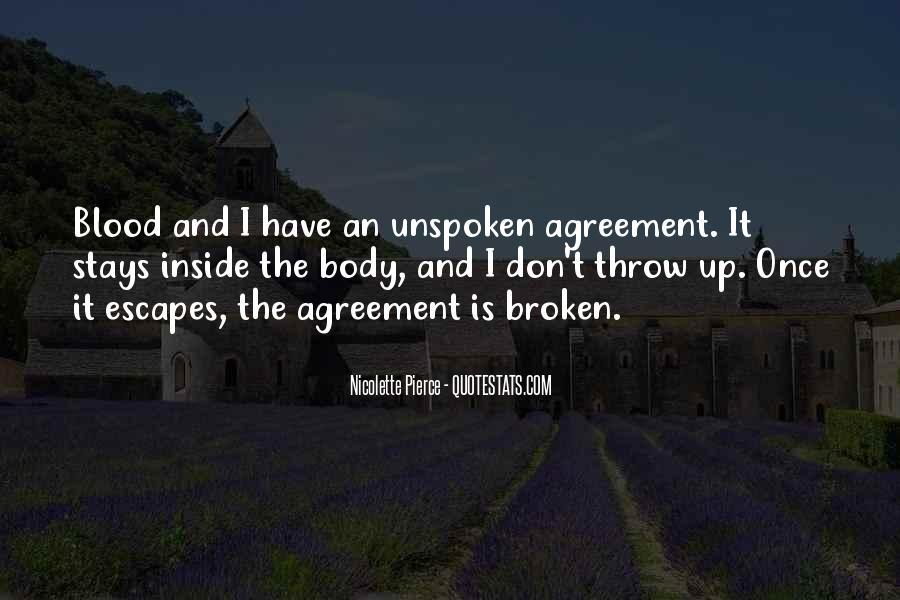 Broken Agreement Quotes #1420660