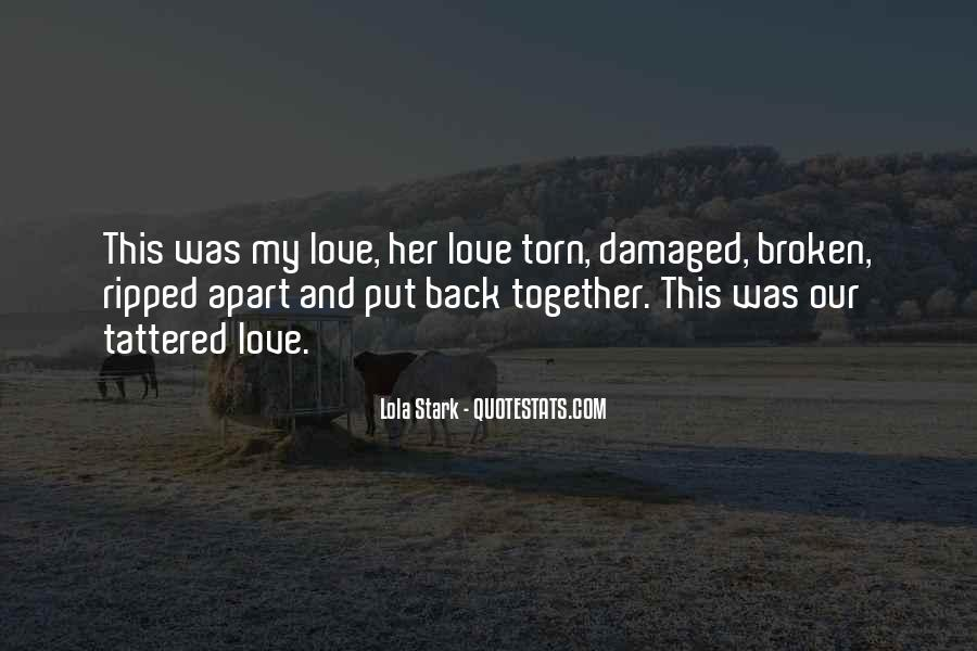 Broken And Torn Quotes #1379377