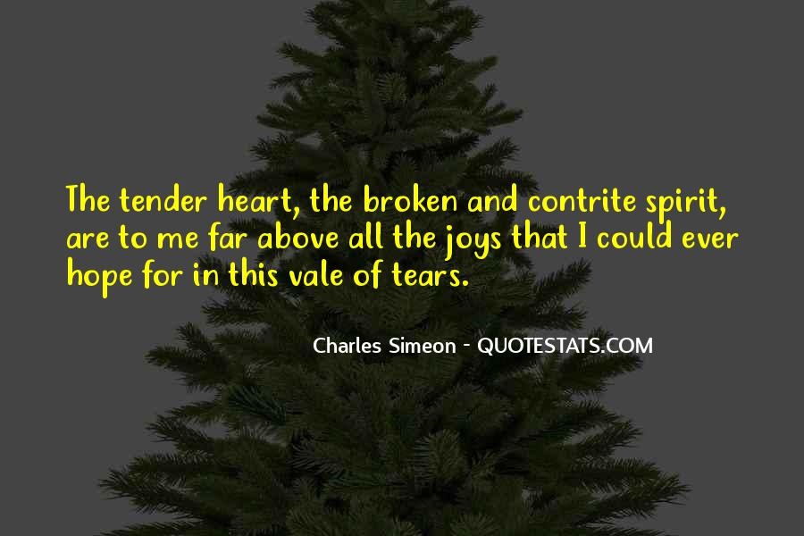 Broken Heart And Tears Quotes #1569656