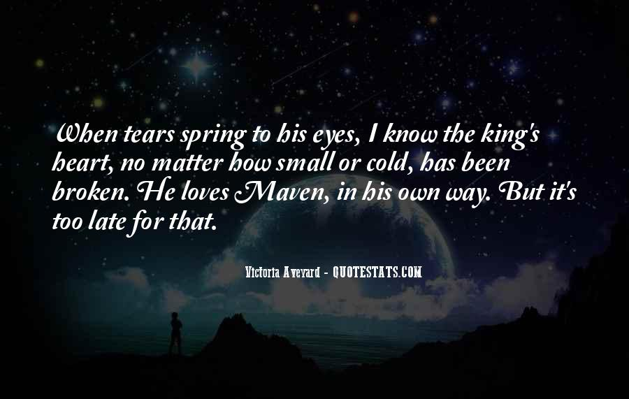 Broken Heart And Tears Quotes #245347