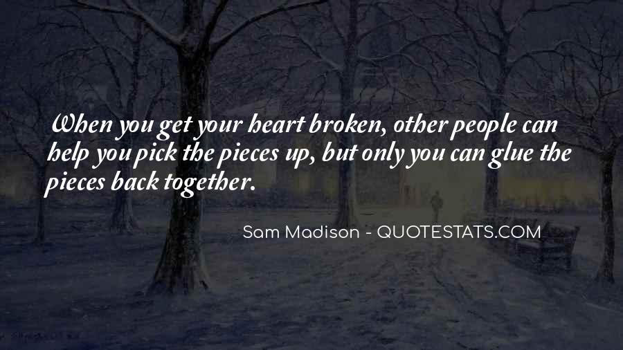 Broken Moving On Quotes #140082