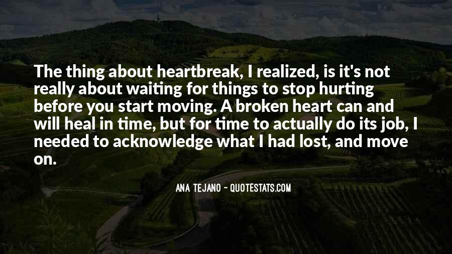 Broken Moving On Quotes #1627848