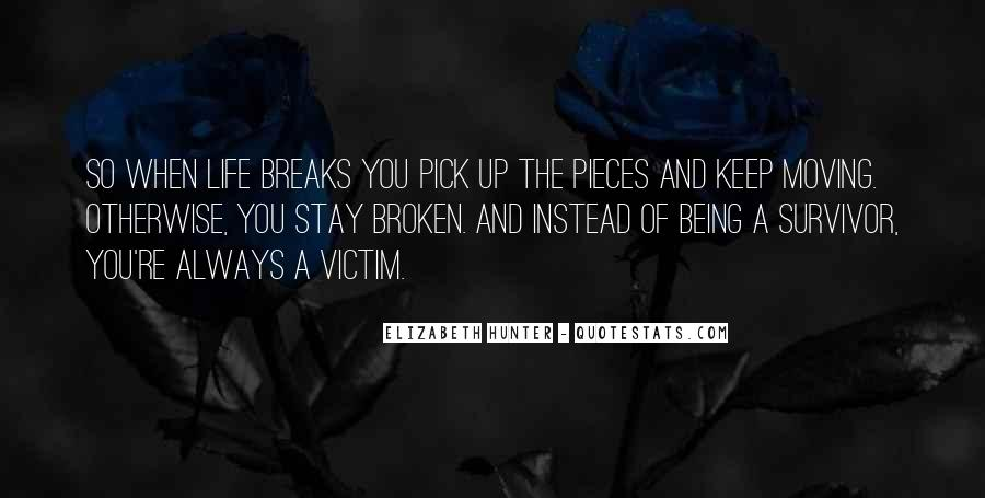 Broken Moving On Quotes #1716316