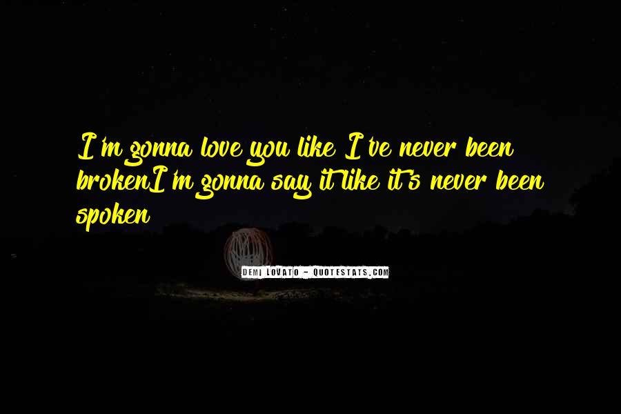 Broken Up Sad Quotes #15680