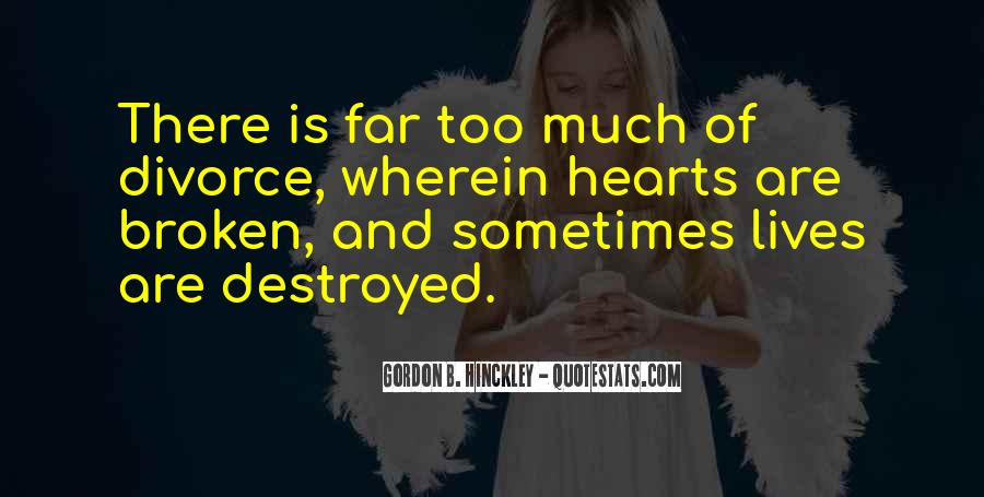 Broken Up Sad Quotes #17690