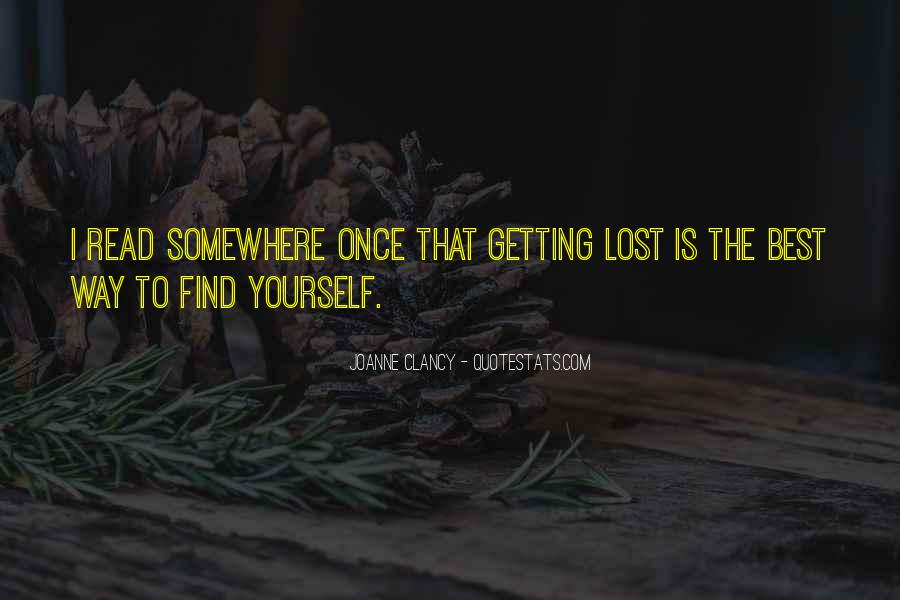 Quotes About Lost Yourself #448341