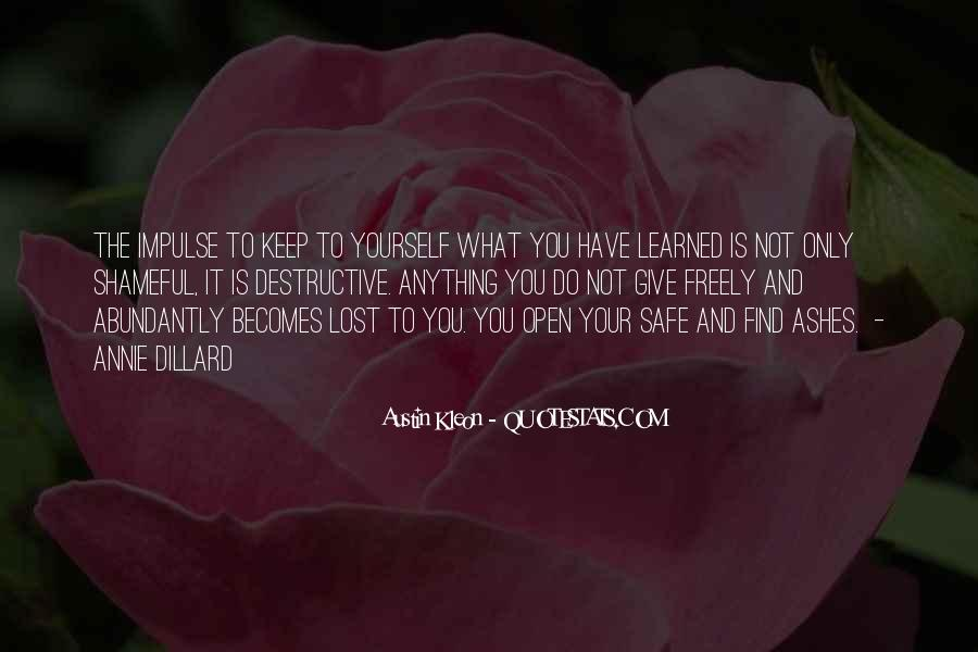 Quotes About Lost Yourself #62142