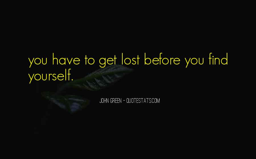 Quotes About Lost Yourself #757859
