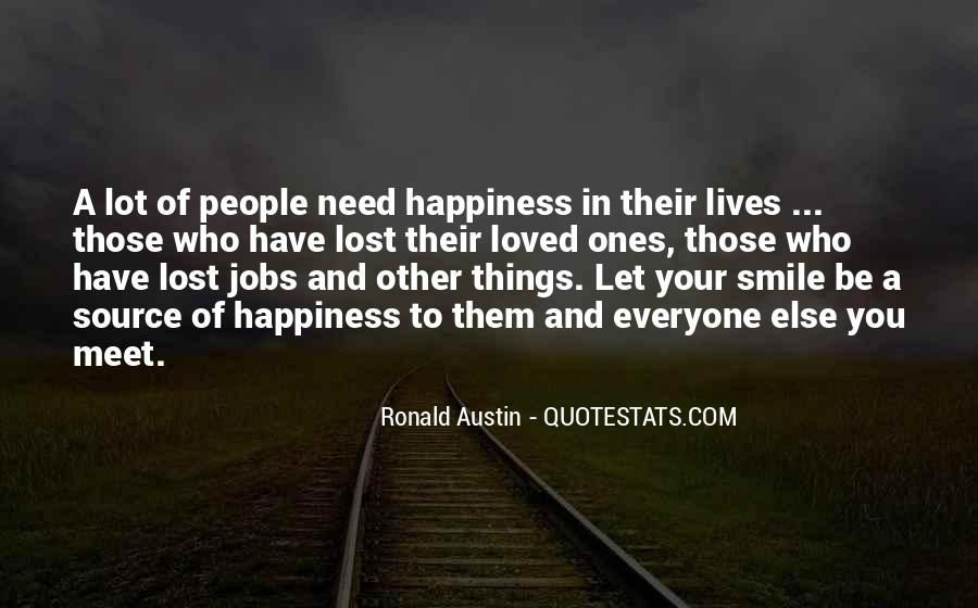 Quotes About Lost Happiness #1121859