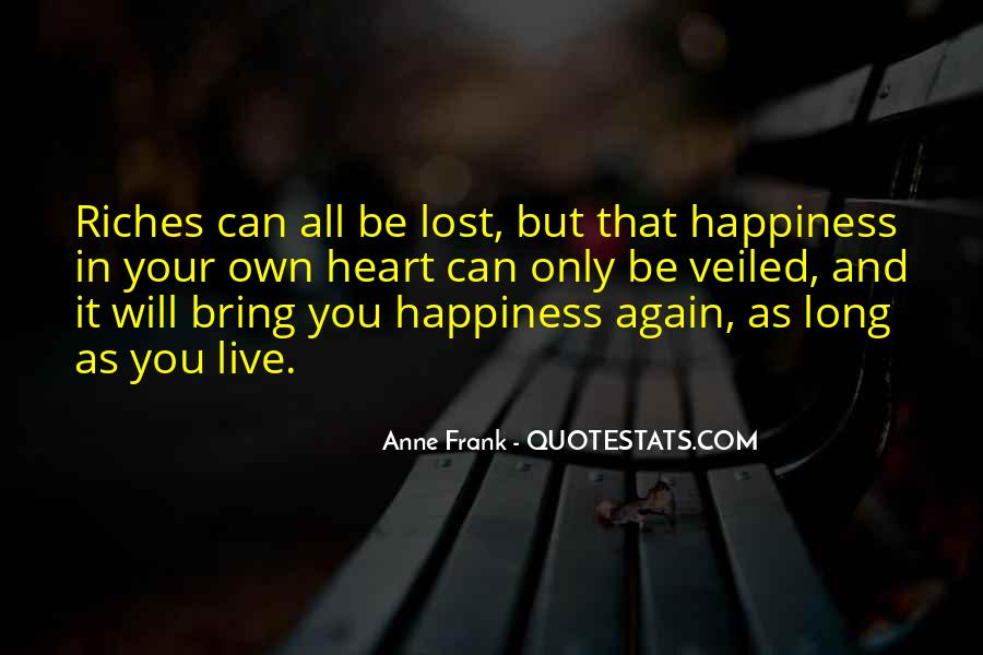 Quotes About Lost Happiness #1332796