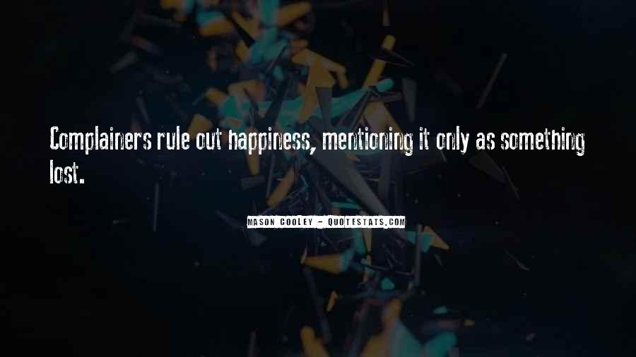 Quotes About Lost Happiness #355815
