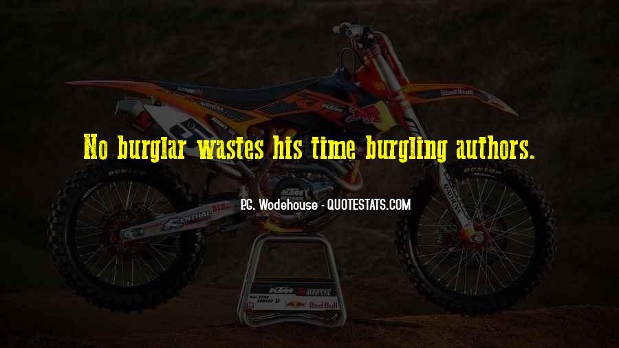 Burglar Quotes #415207