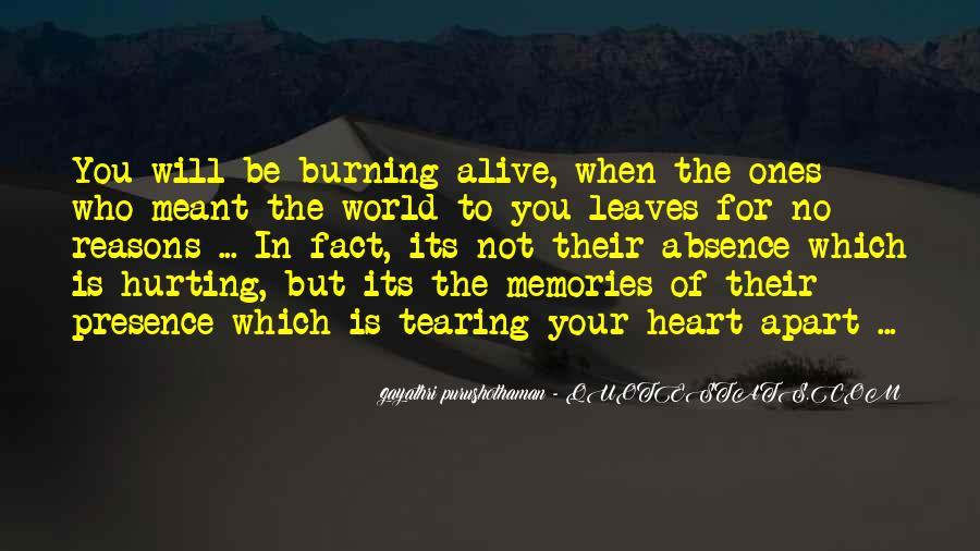 Burning Memories Quotes #238518